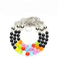 Quality Innovative High-end Luxury Cat Eye Stone Steel Wire Pet Cat Dog Collar and Leash for sale