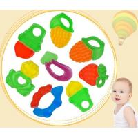Quality 100% Food Grade Soft Fruit Shape Silicone Baby Teether for sale