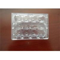 Quality Middle Split PE Hard Plastic Egg Cartons Without Cracking And Crashing for sale