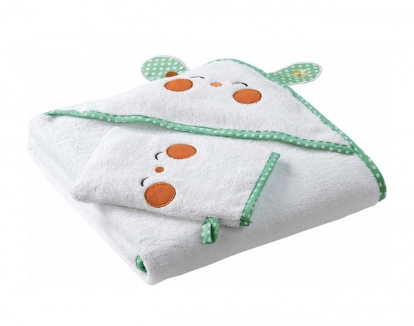 Buy 100% Organic Cotton Baby Hooded Towel Round Towel at wholesale prices