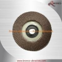 """Quality 4"""" 100 x 16 Calcined Aluminum Oxide Flap Disc with Plastic Core T27 Flat Grit 40-120 for sale"""