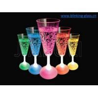 China Light up drinking cup 180ML-Led Champagne glass- on sale
