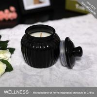 Scented candle in black glass jar -WNJ17276