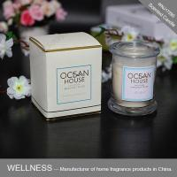 Scented candle in glass jar with gift box-WNJ17290