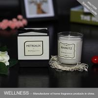 Scented candle in glass jar with nice gift box-WNJ17256