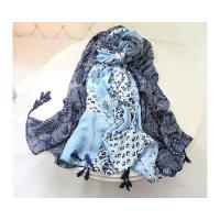 China New Autumn Designer Black and White Long Voile Shawl and Women Scarves on sale