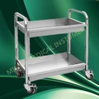Quality stainless steel medical trolley with Three Shelves for sale