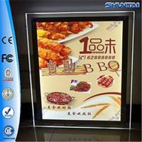 Quality Real Estate Agent Acrylic LED Window Display double sided crystal light box for sale