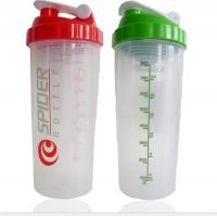 Quality LS-D010 800ml PP protein Shaker water bottle with metal ball for sale