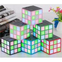 Quality LS-B001 colorful stereo sub woofer Rubik's cube wireless Bluetooth Speaker for sale