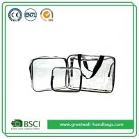 China Mens Transparent Clear Waterproof Travel Bags For Toiletries Set on sale