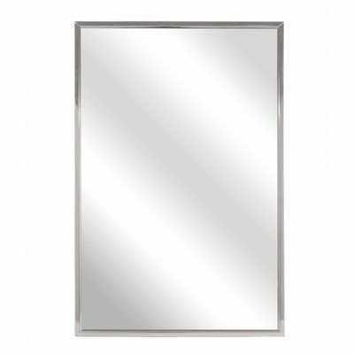 "Buy Bradley 781-024360 Roll-Formed Channel Frame Float Glass Mirror, 24"" Width x 36"" Height at wholesale prices"