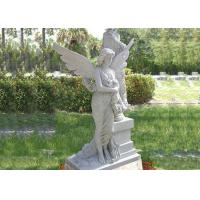 Hand carved marble monument angel statue for cemetery