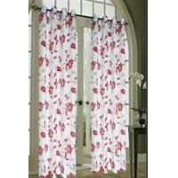 Quality window burnout ready-made curtain with loops for sale