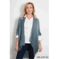 Quality Simply Noelle Bum flip wrap jacket ash gray or fern green one size for sale