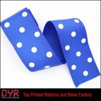 Quality 75mm Wide Polka Dot Grosgrian Ribbon for sale
