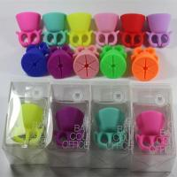 Quality Silicone Nail Art Polish Holder Flexible Durable Wearable Finger Bottle Stand for sale