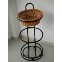 Buy cheap 3 Tiers Basket Trolley on Wheels for Bakery Store Storage from wholesalers