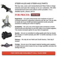 Buy cheap Steer Axles for Forklifts from wholesalers