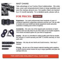 Buy cheap Forklift Mast Chain from wholesalers