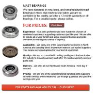 Buy cheap Forklift Mast Bearings from wholesalers