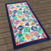 Quality Cuban Stamps Pattern Promotional Beach Towels For Novelty Graduation Gifts for sale