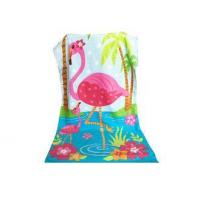 Quality Red-Crowned Crane Print Beach Towel with Company Brand for Advertisement for sale