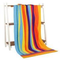 Quality Rainbow Oversized Beach Towels Reactive Printing And Rectangle Shape for sale