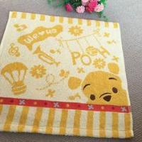 Quality Classic Pooh Printed Baby Face Towel / Jacquard Hand Towels Soft Cotton for sale