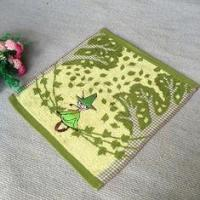 Quality Old Witch Decoration Cotton Face Towel With Excellent Sweat Absoption for sale