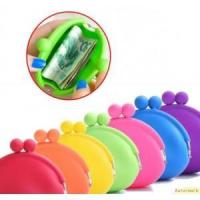 silicone wallet coin purse with clasp