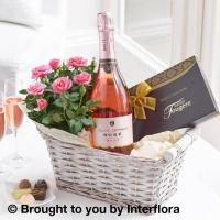 Buy cheap Luxury Sparkling Rose Wine Gift Basket from wholesalers