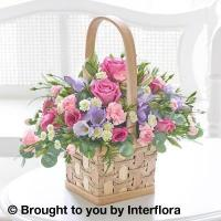 Buy cheap Scented Pink & Lilac Basket with 125g Maison Fougere Chocolates from wholesalers