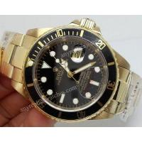 Buy cheap Rolex Submariner Replica Watch: All Yellow Gold Black Face 40mm Mens Watch from wholesalers