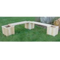 "Quality Three 16"" Cedar Planters & Two Benches for sale"