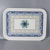 China Factory Direct Wholesale Everyday Use Melamine Rectangular Tableware Serving Tray on sale