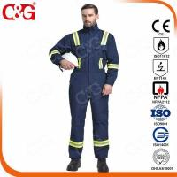Quality Nomex IIIA Flame Resistant Clothing 320g 100% cotton fire-resistant protection coverall for sale