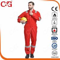 Quality Nomex IIIA Flame Resistant Clothing 100% fire retardant coverall orange color from factory,china for sale