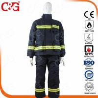 Quality Nomex IIIA Flame Resistant Clothing Nomex IIIA fabric Fire Fighting Suit for sale