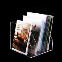 China Desktop Storage Clear Plastic Acrylic Book Display Stand For Reading on sale