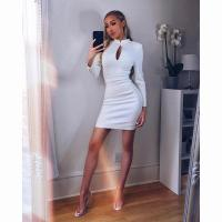 Quality Long Mesh Sleeves white bandage dress for sale