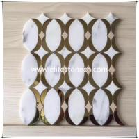 Quality ES-W04 Best selling round brass and white marble mosaic of China National Standard for sale