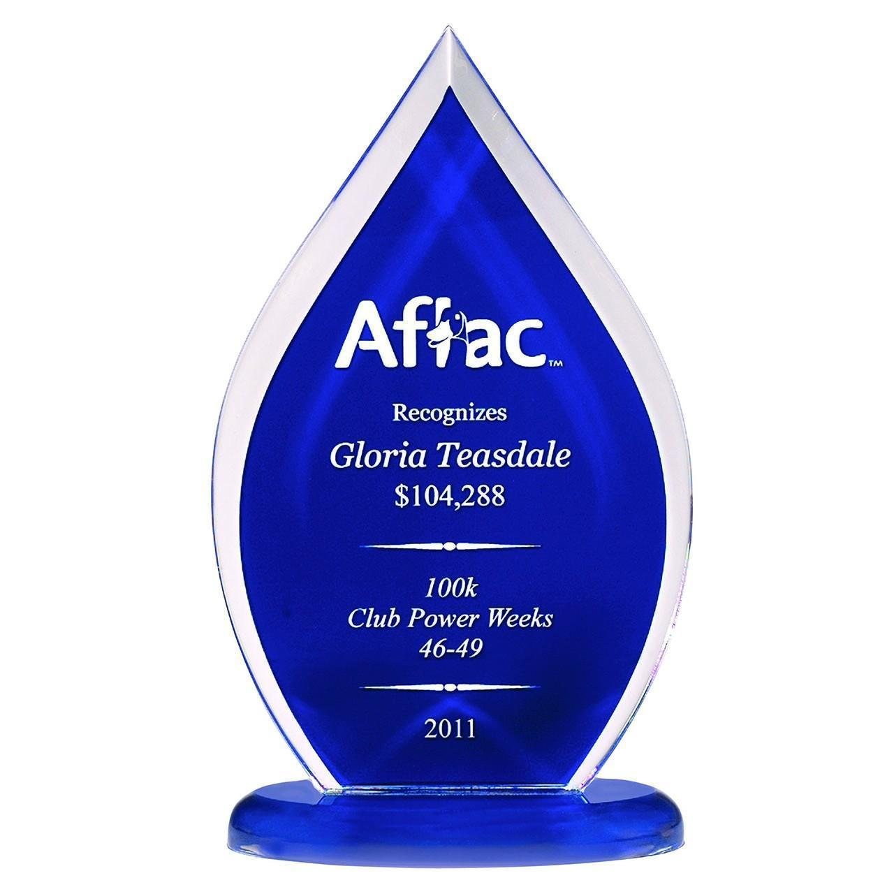 Quality Acrylic Gift & Craft Blue Flame Acrylic Trophy for sale