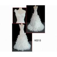 China V0215 beautiful netting elegant one-shoulder wedding gown guangzhou designer hot sell on sale