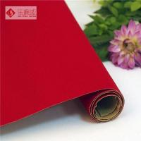 China Hot Sale Red Self- Adhesive Roll Flocking Paper for Photograph Backing on sale