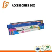 China 350g art paper earphone paper packaging box with handle on sale