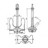 Welding type stockless anchor