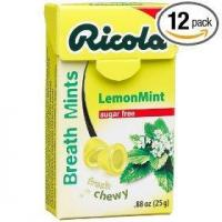 Quality Ricola herbal sugar free lemonmint breath mints, 0.88-ounce boxes (pack of 12) for sale