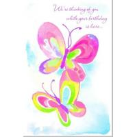 Quality Butterfly Birthday Card Thinking of You for sale