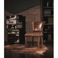 Quality Vintage Chair Solid Wood Leg and Antique Leather Finishing Dining Chair for sale